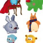 Постер, плакат: The complete set of toys