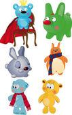 Komplett uppsättning av leksaker — Stockvektor