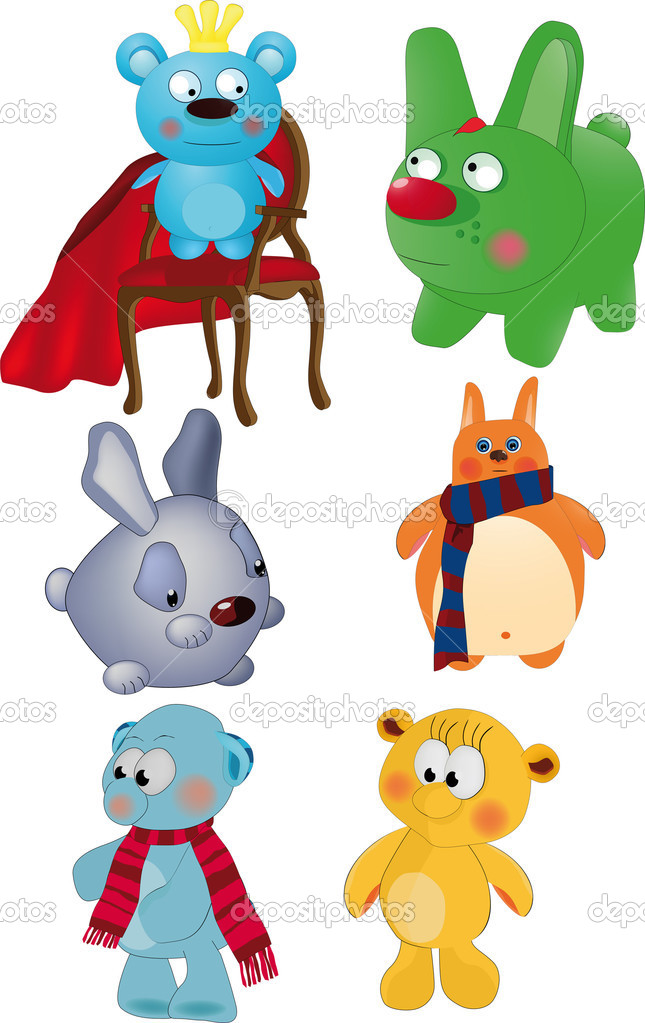 The complete set of toys animals art baby — Stock Vector #1943902