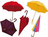 Complete set of umbrellas — Stock Vector