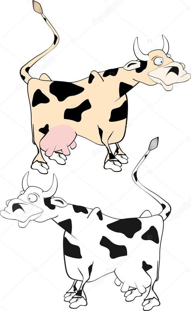 Cow | Stock Vector © Liudmila Pantelejenkova #