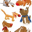 Vector de stock : Group of dogs