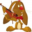Hare the musician - Image vectorielle