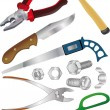The complete set of tools for repair - Stock Vector