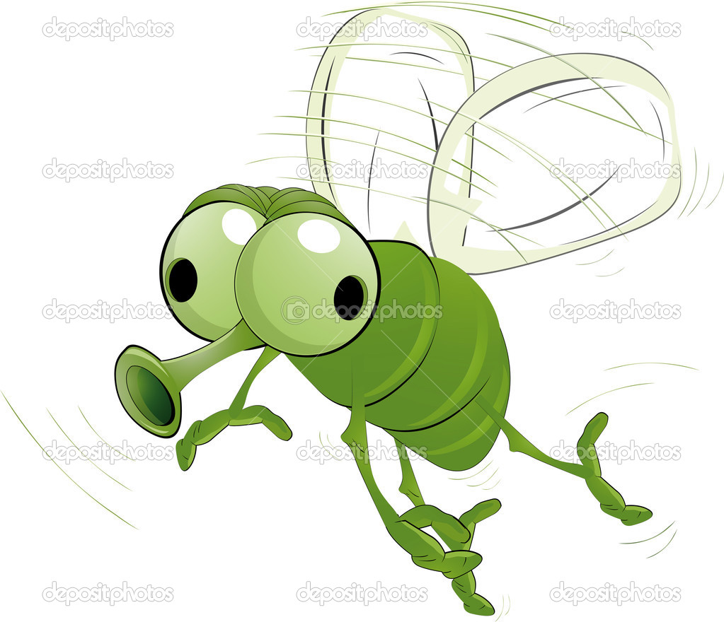 Green insect mosquito virus wings  Stock Vector #2284575