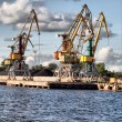 Crane at Ventspils — Stock Photo #1071618