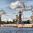 Crane at Ventspils — Stock Photo #1071726