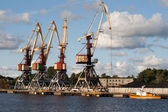 Crane at Ventspils — Stock Photo