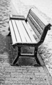 Winter bench — Stock Photo