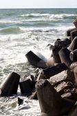Pedras na praia — Fotografia Stock