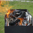 Grill flame — Stock Photo