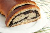 Strudel with poppyseed — Stock Photo