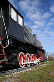 Old train and the sky — Stock Photo