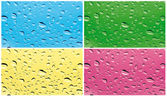 Colored rain on the glass — Stock Photo