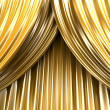 Gold theater curtain — Lizenzfreies Foto