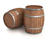 Two wine barrels — Stock Photo