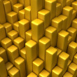 Gold columns — Stock Photo