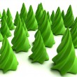 Green fur-trees - Stock Photo