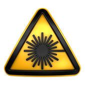 Laser warning sign — Stock Photo