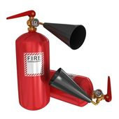 Two fire extinguishers — Stock Photo
