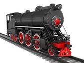 Steam locomotive isolated on white — Stock Photo