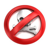 No piracy symbol — Stock Photo