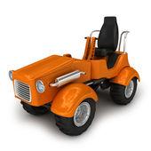Orange tractor — Stock Photo