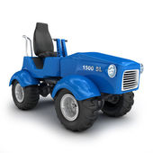 Dark blue tractor isolated on white — Stock Photo