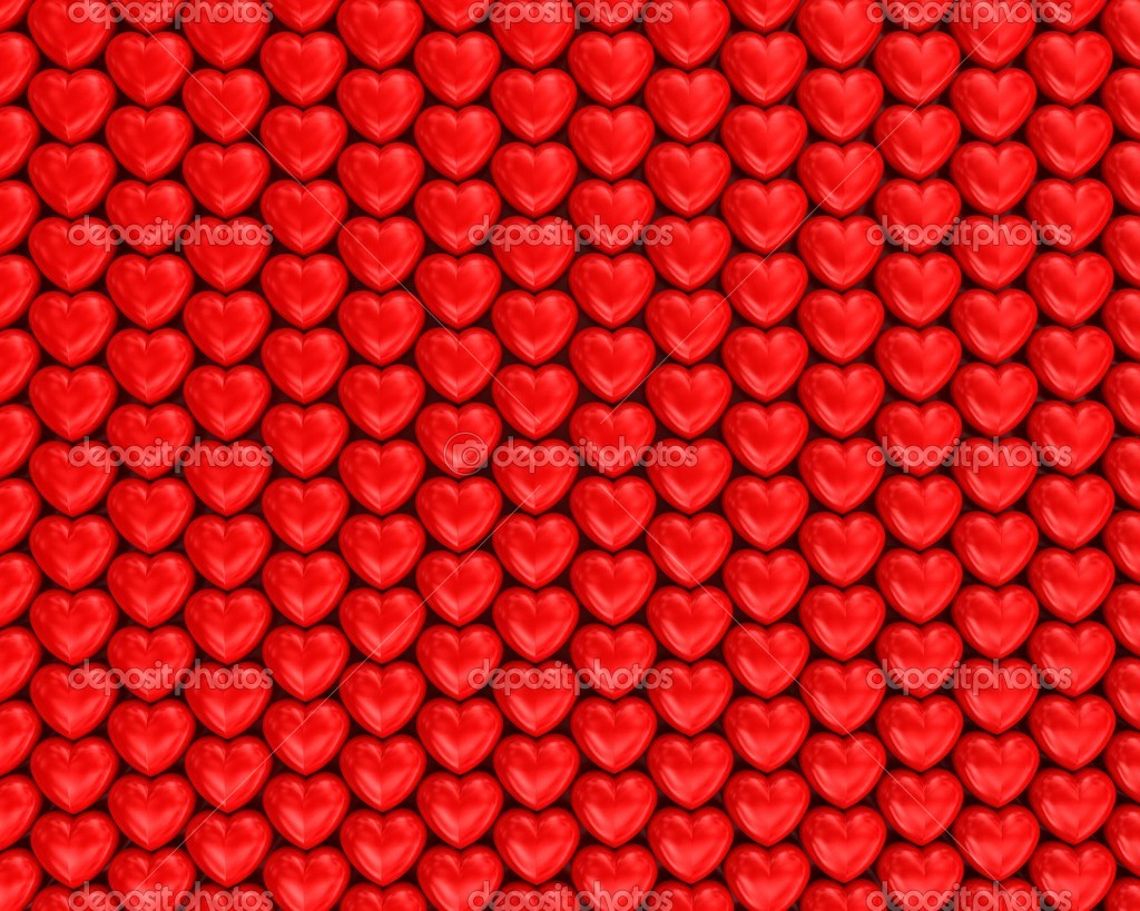 Red hearts background — Stock Photo #1239763
