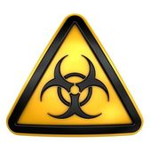 Biohazard caution sign — Stock Photo