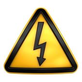 Caution high voltage — Stock Photo