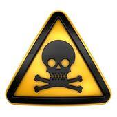 Skull poison warning — Stock Photo