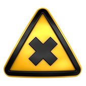 Allergic chemical caution sign — Stock Photo