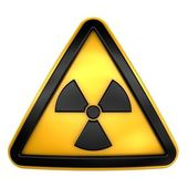 Caution radiation sign — Stock Photo