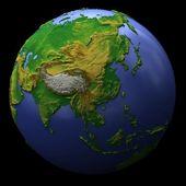 Planet earth, asia — Stock Photo