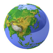 Planetenerde, asien — Stockfoto