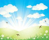 Bahar peyzaj — Stok Vektör