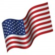 Royalty-Free Stock Vector Image: American flag