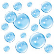 Stock Vector: Blue Bubbles