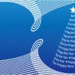 Royalty-Free Stock 矢量图片: Abstract Christmas tree on the blue back
