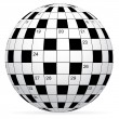 A blank crossword vector - 