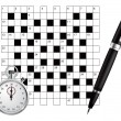 A blank crossword vector — Stock Vector #1240998
