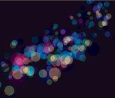 Multi color bokeh lights background — Stock Vector