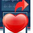 Royalty-Free Stock Vector Image: Heart cardiogram