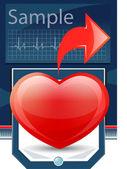 Heart cardiogram — Stock Vector
