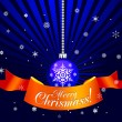 Royalty-Free Stock Imagem Vetorial: Christmas decorative ball with ribbon
