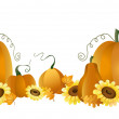 Royalty-Free Stock Vector Image: Autumn pumpkins
