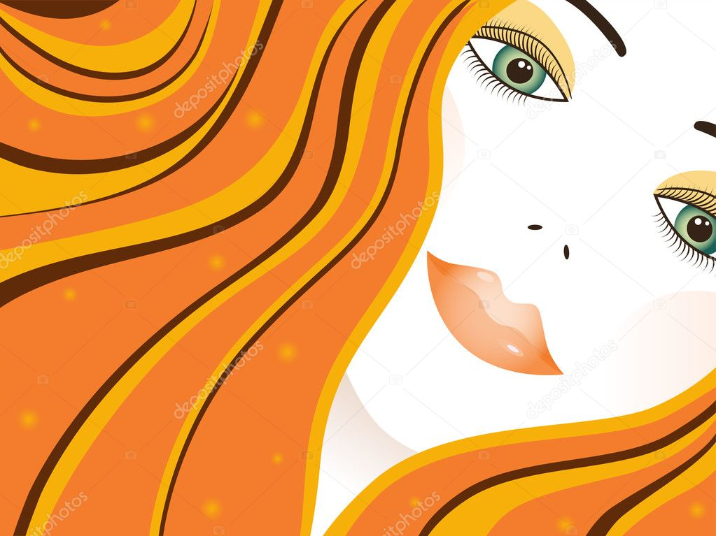 Vector woman face — Stock Vector #1085023