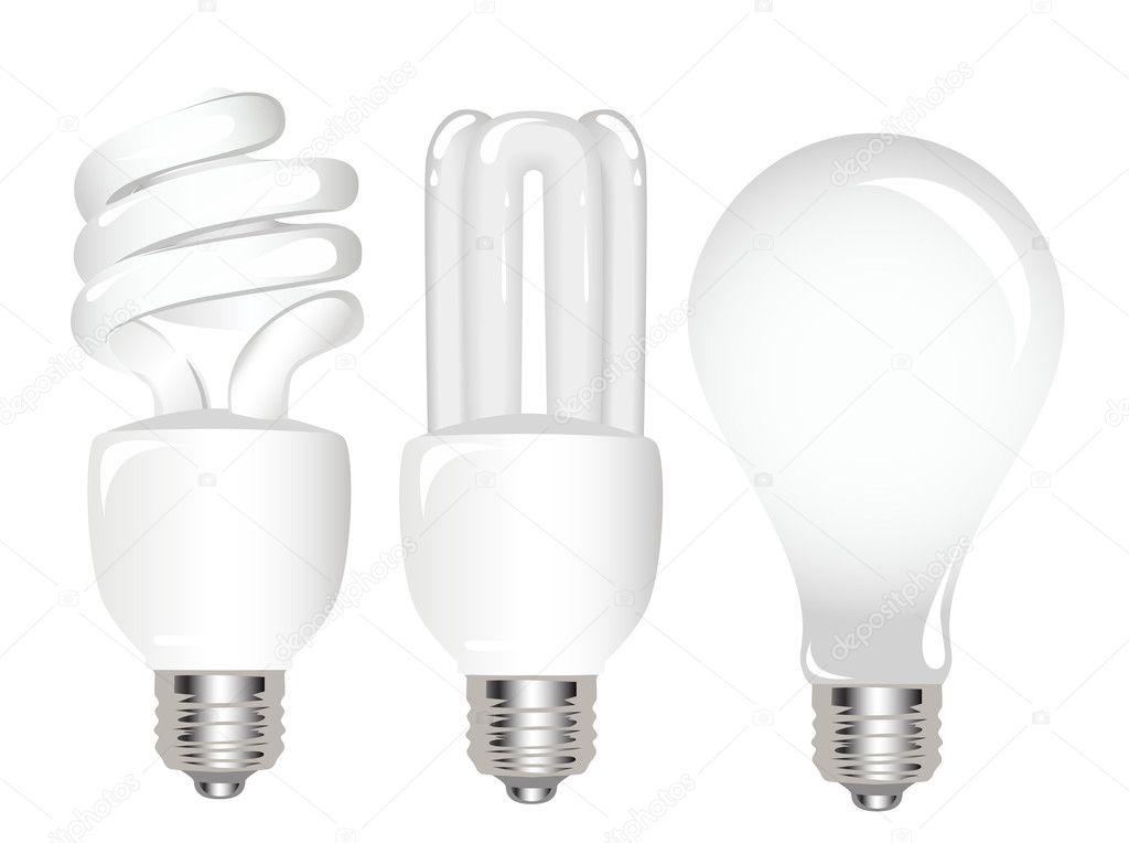 Types Of Light Bulbs Stock Vector Ativka 1085280