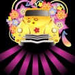Royalty-Free Stock Vector Image: Hippy car